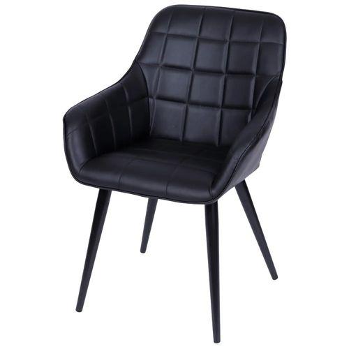 Cadeira Marta com Braço Preta