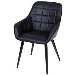 Cadeira Marta com Braço - PRETO