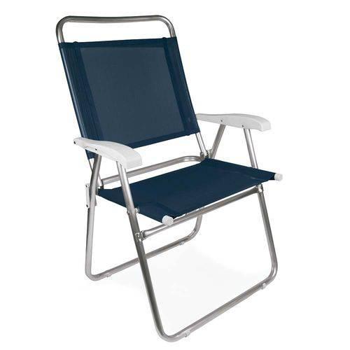 Tudo sobre 'Cadeira Master Plus Alumínio Azul'