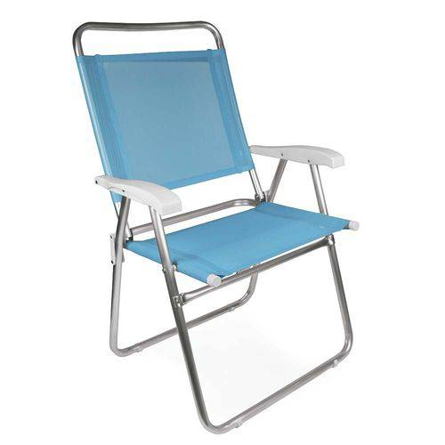 Cadeira Master Plus Fashion Alumínio - Azul