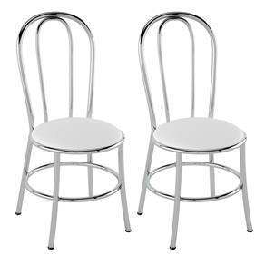 Cadeira PC01 2 Unidades - Pozza - Branco