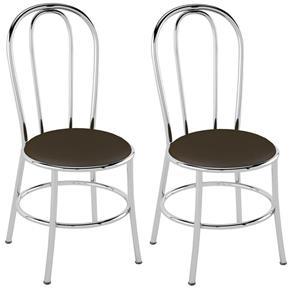 Cadeira PC01 2 Unidades - Pozza - Marrom