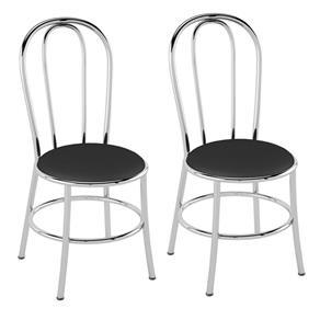 Cadeira PC01 2 Unidades - Pozza - Preto