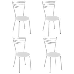 Cadeira PC05 4 Unidades - Pozza - Branco