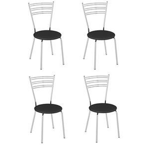 Cadeira PC05 4 Unidades - Pozza - Preto