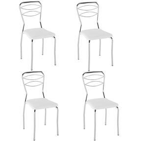 Cadeira PC11 4 Unidades - Pozza - Branco