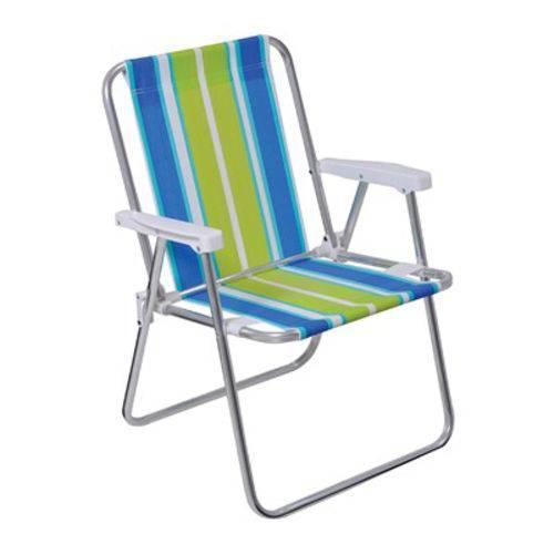 Cadeira Praia Alta de Alumínio Mor