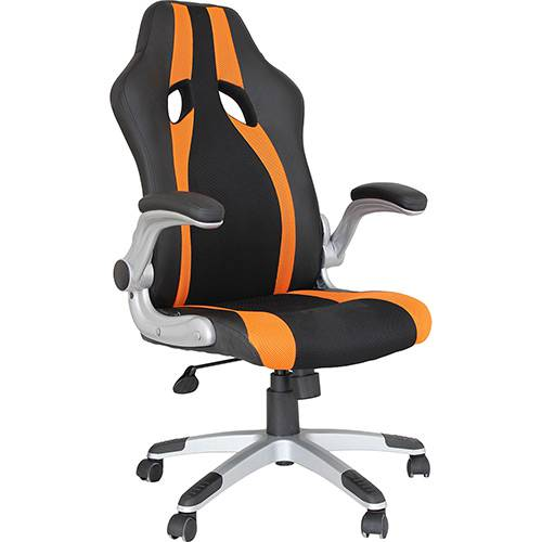Tudo sobre 'Cadeira Presidente Office Speed Preto/Laranja - Rivatti'
