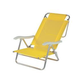 Cadeira Reclinável de Alumínio Sol de Verão Amarela