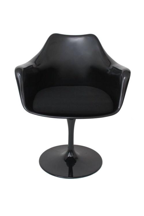 Cadeira Saarinen Design com Braço Preta