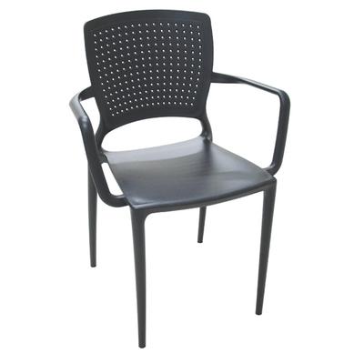 Tudo sobre 'Cadeira Safira com Braços Preta Tramontina 92049009'