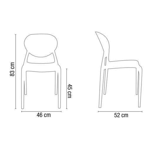 Tudo sobre 'Cadeira Slick Sem BRAÇO Verde'