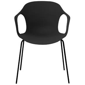 Cadeira Starck com Braço Preta - Desbpr-1251