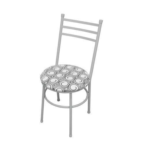 Cadeira Vittoria Espiral Branco e Preto