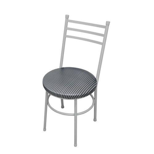 Cadeira Vittoria Listras Branco e Preto