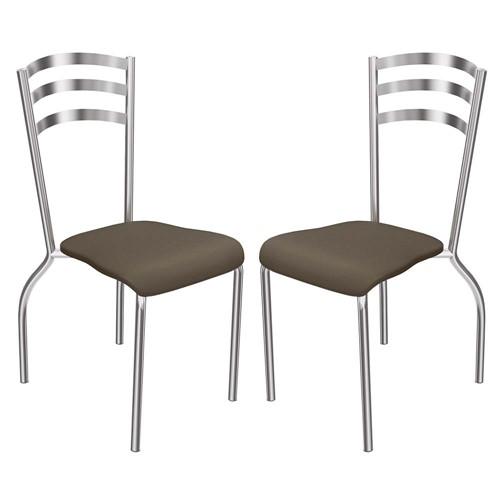 Tudo sobre '2 Cadeiras Cromadas Portugal 2C007CR - Kappesberg - Marrom'