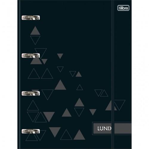 Tudo sobre 'Caderno Argolado Cartonado Universitário com Elástico Lunix Preto 80 Folhas'