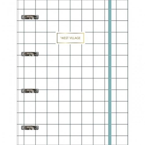 Tudo sobre 'Caderno Argolado Cartonado Universitário com Elástico West Village 80 Folhas'