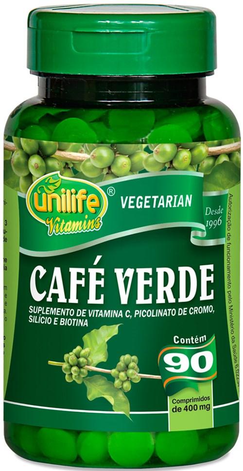 Tudo sobre 'Café Verde Unilife 90 Comp 400mg'