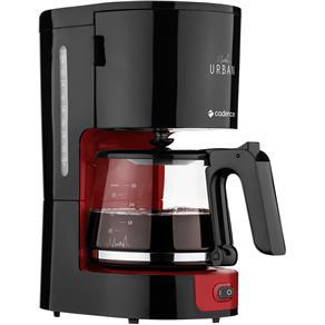 Cafeteira Elétrica Cadence Urban Coffee CAF600 Até 30 Xícaras - Preta/Vermelha - 110V