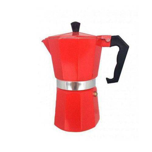 Tudo sobre 'Cafeteira Italiana Alumínio para 6 Cafezinhos Vermelho-5748'