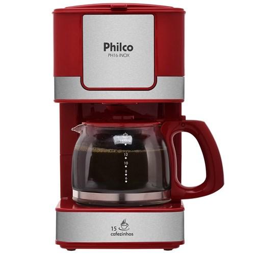 Cafeteira Ph16 Inox 053902023 Vermelho 220V - Philco