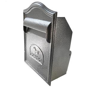 Caixa Correio Embutir Muro Preta 38x28cm Alumínio Alfa