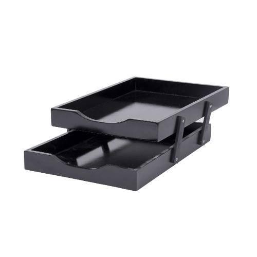 Caixa de Correspondência (Escaninho) Dupla N°2 Mdf Black Piano Souza