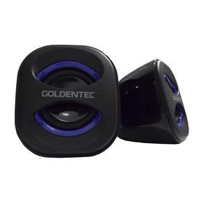 Caixa de Som 5.0W RMS Goldentec GT Sound Preto/Azul