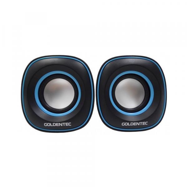 Caixa de Som 6.0W RMS Goldentec GT Sound 2.0 Preto/Azul - AP0384