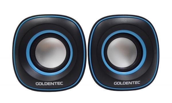 Caixa de Som 6.0W RMS Goldentec GT Sound 2.0 Preto/Azul - Goldentec Acessorios