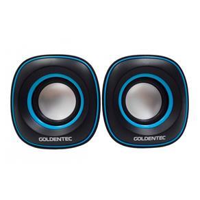 Caixa de Som 6.0W Rms Goldentec Gt Sound 2.0 Preto e Azul
