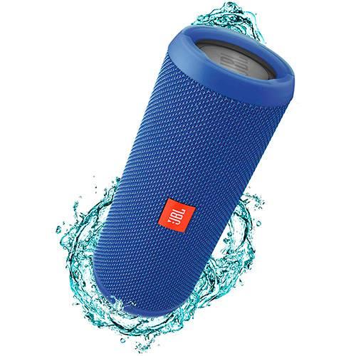 Tudo sobre 'Caixa de Som Bluetooth JBL FLIP3 Azul 16W RMS Bluetooth/Entrada P2 Amplificada 2X8W'