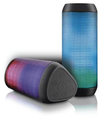 Caixa de Som Bluetooth Led Micro Sd 15w Rms Multilaser - SP1
