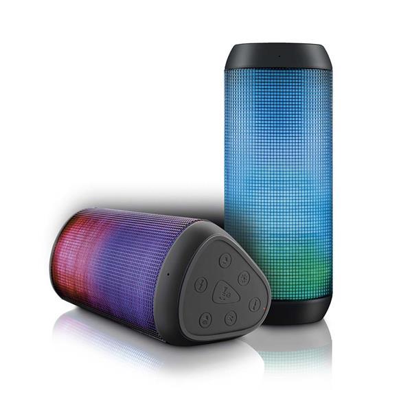 Caixa de Som Bluetooth Multilaser Sound Colors Preto 15W Usb Led Light Sp192