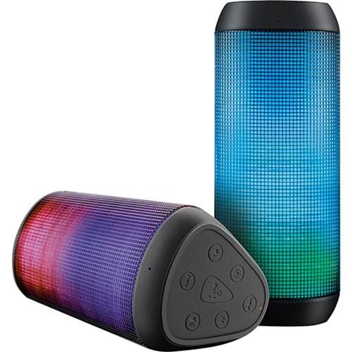 Caixa De Som Bluetooth Multilaser Sp192 15w Led Light Sd P2 Usb