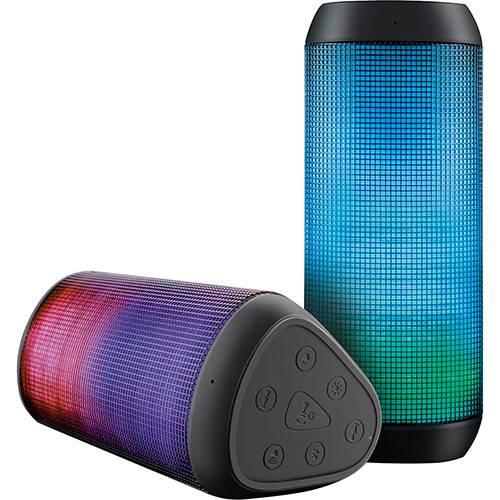 Caixa de Som Bluetooth Multilaser SP192 Sound Colors Preto 15W USB LED Light
