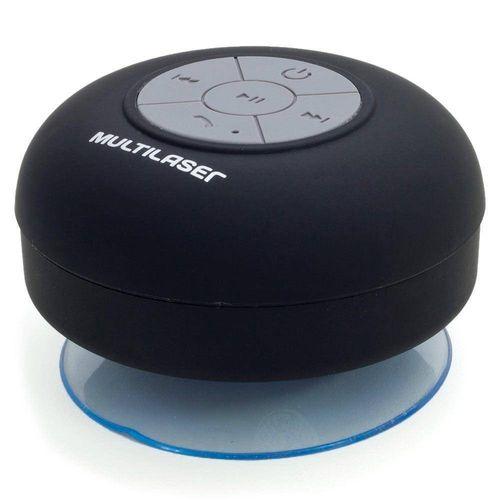 Caixa de Som Bluetooth Shower 8w Rms Multilaser Preta