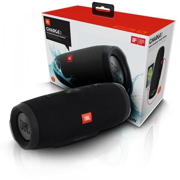 Caixa de Som Jbl Charge 3 Bluetooth Prova Dagua Preto Jbl
