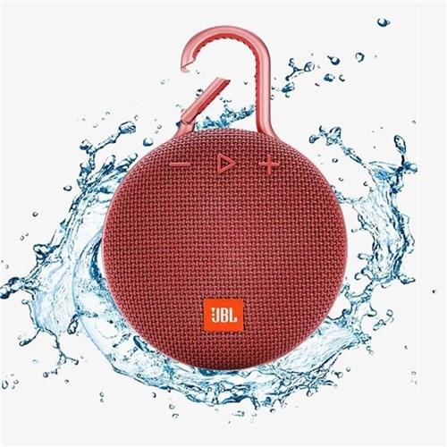Caixa de Som Jbl Clip 3, Bluetooth, Portátil, Vermelha