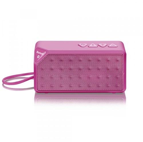 Caixa de Som Portátil Bluetooth 8W RMS 5V Rosa SP175 - Multilaser