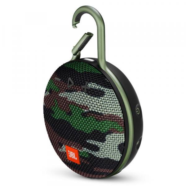 Caixa de Som Portátil Bluetooth Prova D'Água JBL Clip 3 Squad