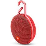 Caixa de Som Portátil Bluetooth Prova D'água Jbl Clip 3 Vermelho