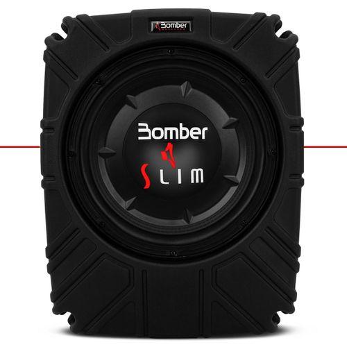 Caixa de Som Selada Slim Bomber Subwoofer 10 Polegadas 200 Watts Rms Passiva Sem Amplificador