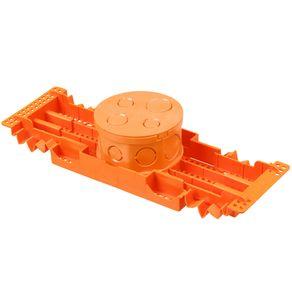 Caixa Embutir 4X4 Octogonal Regulável Laranja Tigre