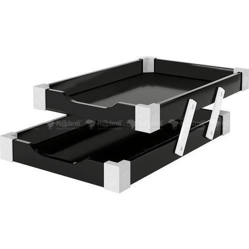 Caixa para Correspondência Articulada Dupla 3455 Black Piano
