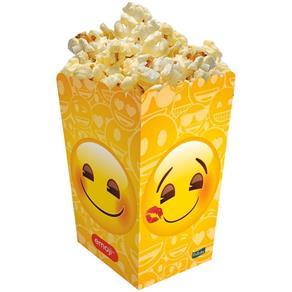 Caixa para Pipoca 8 Unidades - Emoji