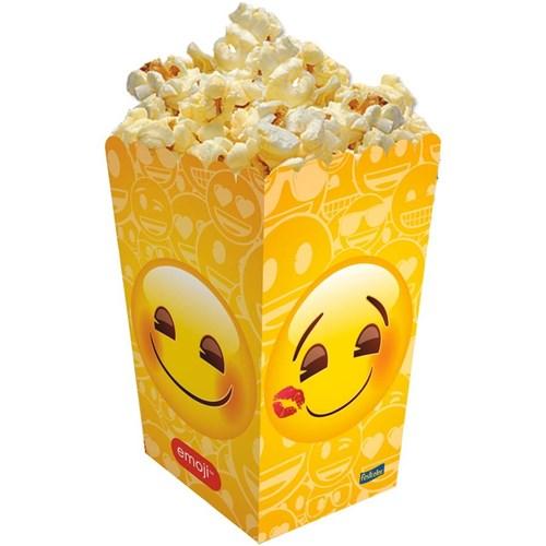 Caixa para Pipoca Emoji - 08 Unidades