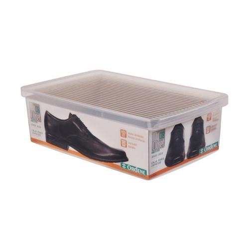 Caixa para Sapato Transparente G 11x23,5x35,5cm Ordene