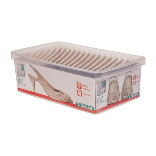 Caixa para Sapato Transparente M 10x19x31cm Ordene